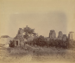 Panoramic view of group of temples east of the Yameshvara Temple (left-hand section)